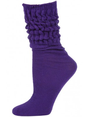 Millennium Women's Slouch Socks - 1 Pair - Purple