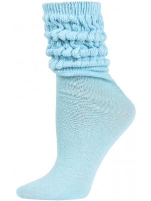 Millennium Women's Slouch Socks - 1 Pair - Sky Blue