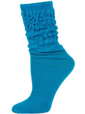 Millennium Kid's Slouch Socks - 1 Pair - Turquoise Blue