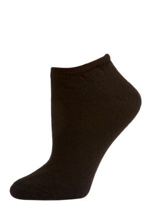 American Made Women's Black No Show Socks - 3 Pairs