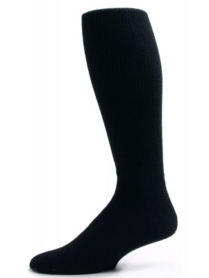 Pro-Trek Men's King Size Black Over the Calf Crew Socks - 3 Pairs