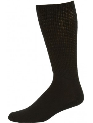 Physician's Choice Men's Black Extra Comfort King Size Diabetic Crew Socks - 3 Pairs
