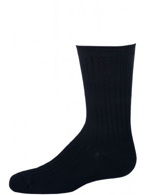 Empire Boy's Navy Ribbed Dress Socks - 3 Pairs - Navy Blue