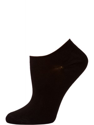 Chatties Women's Solid Color Microfiber No Show Socks - 1 Pair - Black
