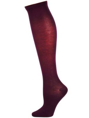 Chatties Women's Solid Knee Socks - 1 Pair - Purple
