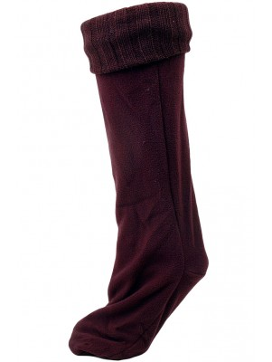 Chatties Women's Rainboot Liner Socks - 1 Pair - Burgundy Red