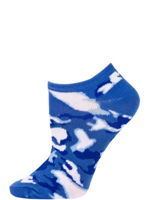 Chatties Women's Camo Print No Show Socks - 1 Pair - Dark Blue