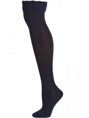 Sockaholic Women's Ruffled Over the Knee Socks - 1 Pair - Navy Blue