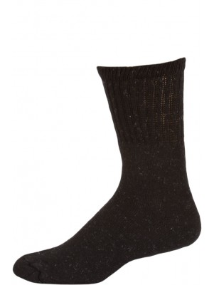 Big Jack's Black Crew Boot Socks - 6 Pairs