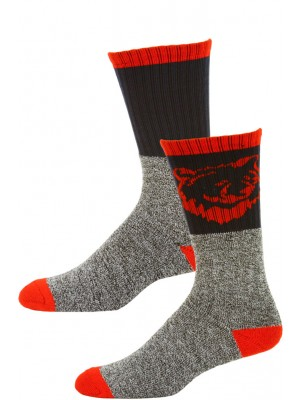 Big Jack's Men's Insulated Thermal Boot Socks - 2 Pairs - Red/Navy Blue Bear