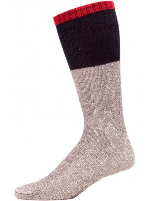 Big Jack's Men's Thermal Boot Socks - 3 Pairs - Navy Blue/Red/Grey