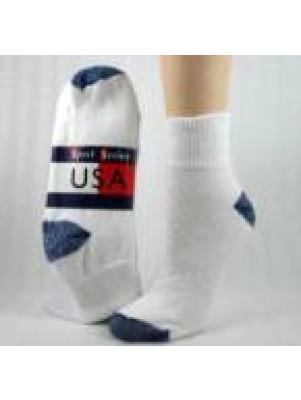 Women's Blue Colored Heel and Toe Quarter Socks - 3 Pairs