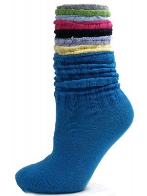 Assorted Cotton Slouch Socks - 12 Pairs