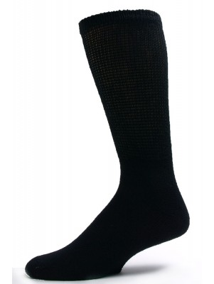Sole Pleasers Men's Black King Size Diabetic Crew Socks - 3 Pairs