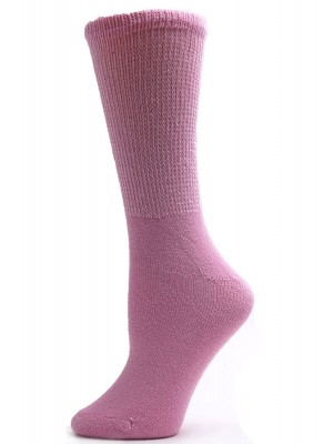 Sole Pleasers Women's Pink Diabetic Crew Socks - 3 Pairs