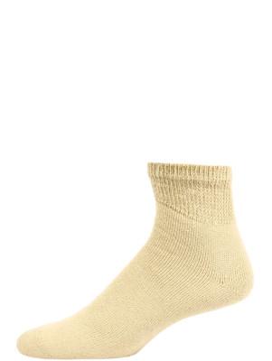 Sole Pleasers Men's Tan Diabetic Quarter Socks - 3 Pairs