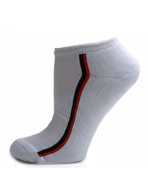 Running Mate Women's Striped Socks - 3 Pairs - White