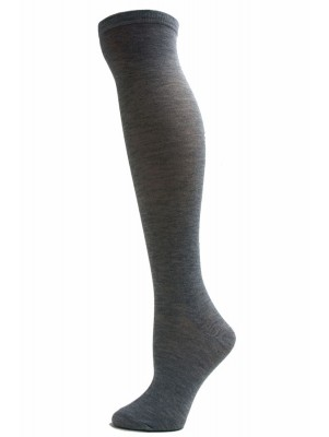 Julietta Women's Solid Colored Knee Socks - 1 Pair - Light Grey