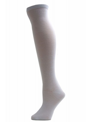 Julietta Women's Solid Colored Knee Socks - 1 Pair - White