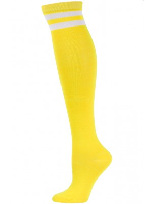 Julietta Retro Stripe Over the Knee Socks - 1 Pair - Yellow