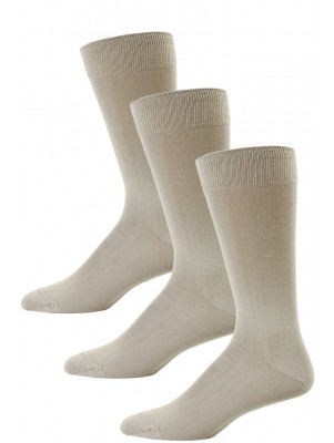 Yelete Men's Tan Dress Socks - 3 Pairs