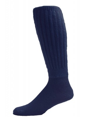 Extra Long, Extra Heavy Navy Slouch Socks - 1 Pair