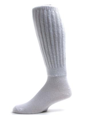 Extra Long, Extra Heavy White Slouch Socks - 1 Pair