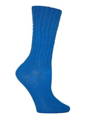 Sapphire Blue Cotton Slouch Socks - 1 Pair
