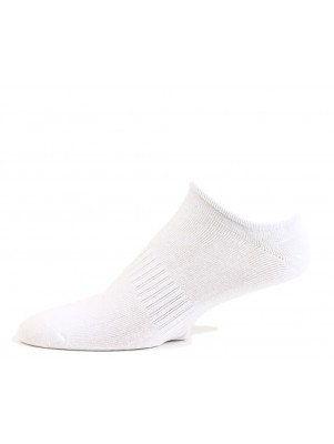 Fine Fit Men's No Show Cotton Socks - 3 Pairs - White