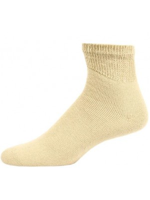 Sole Pleasers Men's King Size Tan Diabetic Quarter Socks - 3 Pairs