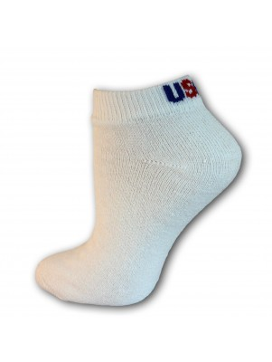 Men's USA Logo Low Cut Socks - 3 Pairs