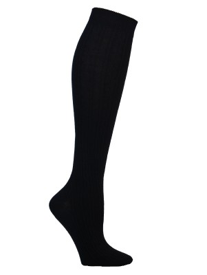 Yelete Women's Navy Cable Knit Knee High Socks Socks - 1 Pair