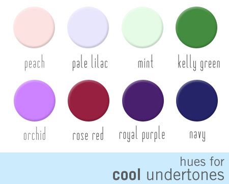 hues for cool undertones