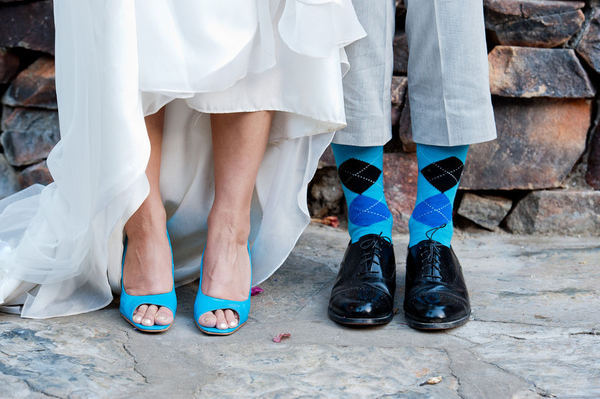 something blue socks for groom