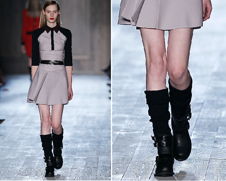 victoria beckham fall 2012 slouch socks