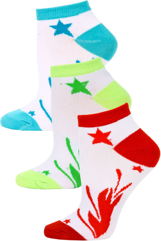 Yelete Jaze Shooting Stars Low Cut Socks - 3 Pairs at Sears.com