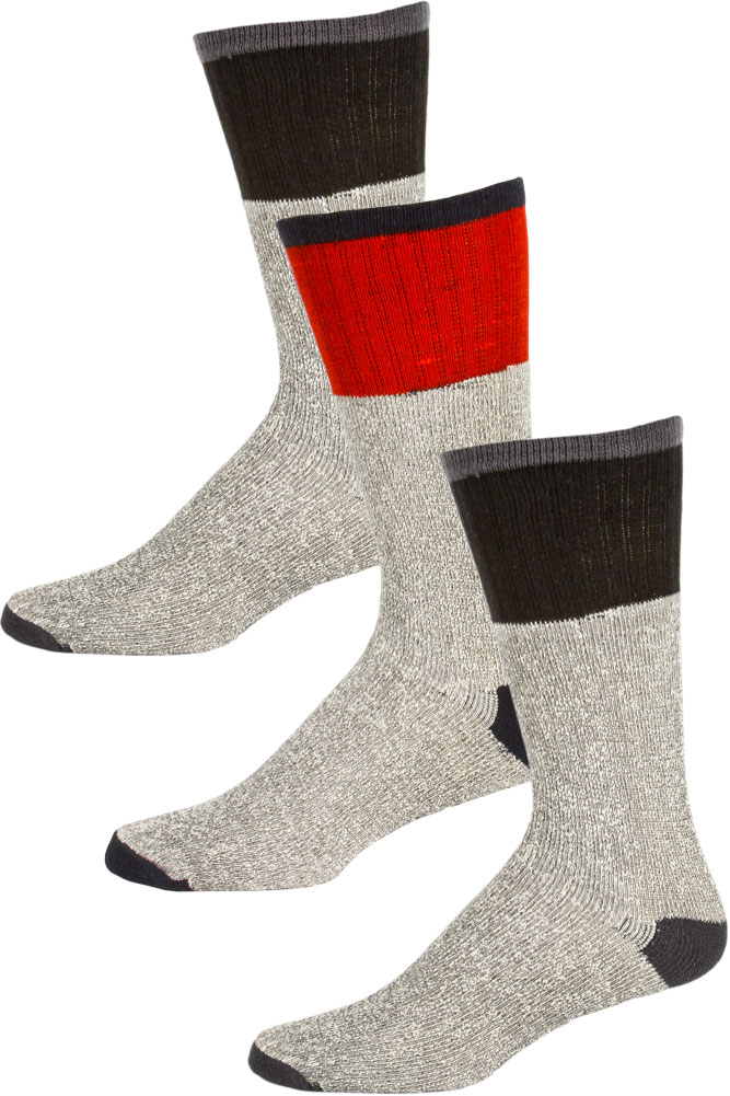 Emby Hosiery Thermalsport Men's Extreme Weather Cotton Thermal Boot Socks - 3 Pairs at Sears.com