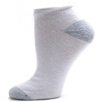 American Made Women's Gray Heel and Toe Low Cut Socks - 3 Pairs