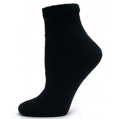 Sole Pleasers Women's Black Diabetic Quarter Socks - 3 Pairs
