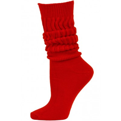 Credos Women's Extra Heavy Slouch Socks - 1 Pair - Red