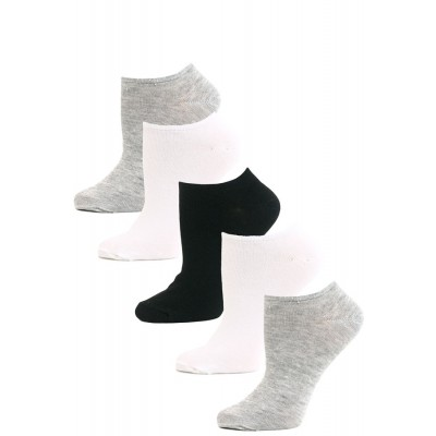 Get Active Women's Solid No Show Socks - 5 Pairs