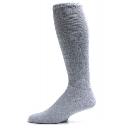 Pro-Trek Men's Grey Over the Calf Crew Socks - 3 Pairs