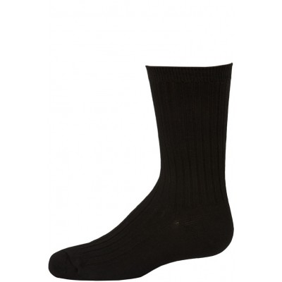 Empire Boy's Black Ribbed Dress Socks - 3 Pairs - Black