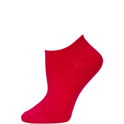 Chatties Women's Solid Color Microfiber No Show Socks - 1 Pair - Hot Pink