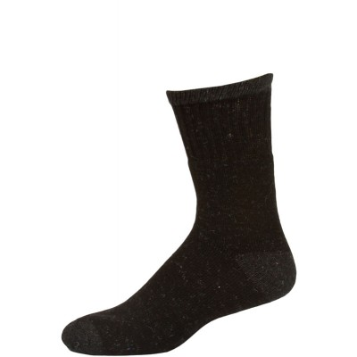 Work Wear Men's Crew Socks - 1 Pair - Black with Grey