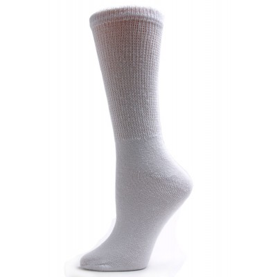 Sole Pleasers Women's White Diabetic Crew Socks - 3 Pairs