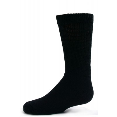 Sole Pleasers Kids' Black Diabetic Crew Socks - 3 Pairs