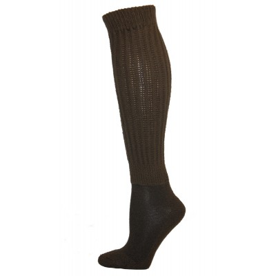 Extra Long, Extra Heavy Brown Slouch Socks - 1 Pair