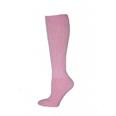 Extra Heavy Pink Slouch Socks - 1 Pair