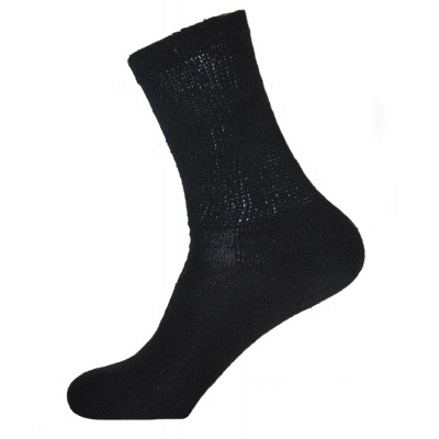 Physician's Choice Men's Black Diabetic Crew Socks - 3 Pairs